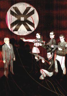 """La prima assoluta """"Allarmi!"""" di ErosAntEros, concentra la sua attenzione sul fenomeno del neofascismo che continua a interessare l'Europa e il mondo e che, a seguito della crisi economica, sta ricevendo impennate populiste sempre più incalzanti. Foto di Gianluca Sacco. #VIEFestival2016 #emiliaromagnateatro #erosanteros #agatatomsic #davodesacco #modena #bologna #carpi #vignola #theatre #artisti"""