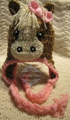 Free Crochet Pattern For Horse Hat : Crochet Horse on Pinterest Crocheting, Amigurumi and ...