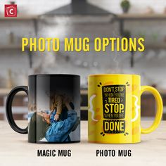 Choose from ceramic mugs and magic mugs and customize them with your favorite photos, logo, or personalized text. Give these mugs are a gift, use for yourself, or brand them for your business events. Personalized Ceramic Coffee Mugs, Personalized Photo Mugs, Custom Photo Mugs, Custom Mugs, Ceramic Mugs, Photo Mug Printing, Happy Anniversary Wedding, Coffee Mugs Online, Photo Pillows