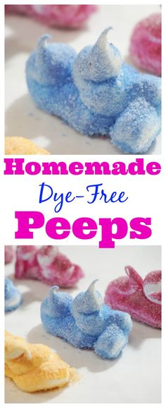 These homemade Peeps were delicious! They'll be a great treat for #Easter. Great that they're dye-free also.