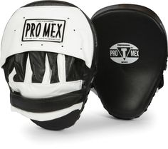 Pro Mex Pantera Mitts mma muay thai boxing pro black white leather martial arts  #PRO