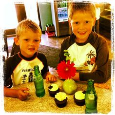 These two were so excited for their after swim snack! They even helped us set up the cupcakes for the perfect picture! #ohmycupcakes