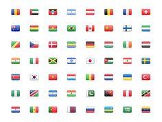 Stripe Flag Set by Benjamin De Cock for Stripe