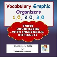 These visually interesting and engaging graphic organizers teach students new vocabulary with ease! Students are asked to use a combination of cognitive thinking skills as well as creative skills to assist them in committing new vocabulary to their long New Vocabulary Words, Vocabulary Activities, Vocabulary Builder, Vocabulary Graphic Organizer, Graphic Organizers, Multiple Meaning Words, Root Words, Teacher Created Resources, Teacher Notes