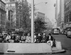Old New York - nycnostalgia: Old folks hanging out in the...