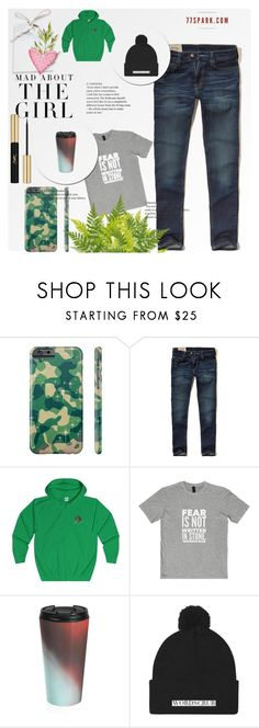"""What a Man! By 77 Spark"" by velci-987 ❤ liked on Polyvore featuring Hollister Co., Kershaw, Yves Saint Laurent, men's fashion and menswear"