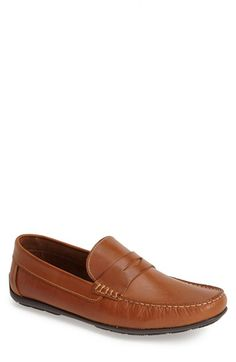 Sandro Moscoloni 'Paris' Leather Penny Loafer (Men) available at #Nordstrom