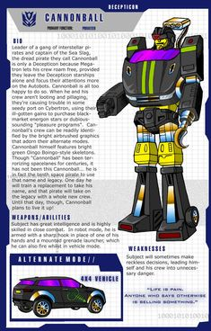 My interpretation of how a Generation 1 version of the Transformers character, Cannonball, could look like. Uses the same basic design and tr. 80s Characters, Transformers Characters, Transformers Robots, Transformers Generation 1, Transformers Decepticons, Custom Action Figures, Jojo Bizzare Adventure, Comic Books Art, Deviantart