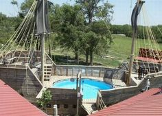 Pirate Ship Pool...I need one of these in my back yard...
