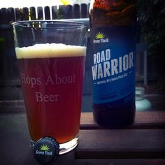 Nothing like a BBQ and a delicious Green Flash Road Warrior Imperial Rye IPA on a warm Nor Cal night. #beer #craftbeer #beerporn  Check us out on Instagram at https://www.instagram.com/hopsaboutbeer/