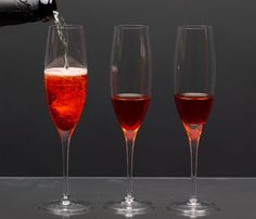 Delicious Holiday Drink Recipes: Pomegranate and Cranberry Bellinis. These sparkling drinks are from Giada's Kitchen (Random House/Clarkson Potter). #SelfMagazine