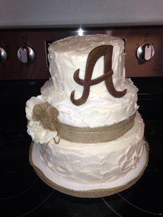 Wedding shower Burlap cake