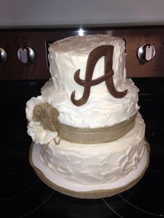 Wedding shower Burlap cake