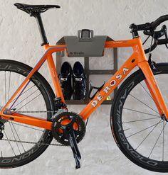 Artivelo BikeDock Loft Aluminium Grey Bike Wall Mount Bike Rack Bike Shelf Bike Wall bracket Bike hanger bike storage Bike wall mount hanging bike system fiets ophangsysteem De Rosa King XS