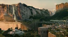 """Matte painting - imaginary place: """"Somewhere"""""""