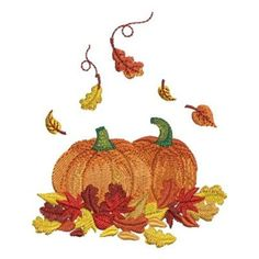 Get this festive fall greetings embroidery design