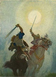 """Legends of Charlemagne"" illustrated by N. C. Wyeth from animationresources.org/?p+720"