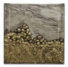 Esta é uma pintura feita pela artista Mel Gama.  Em tons de ouro com aplicação de casca de ovo e folha de ouro.  Peça bem moderna e posso fazer uma pintura semelhante em outros tamanhos a combinar. TÍTULO: Pão de Açúcar DIMENSÕES: 30 x 30 x 3cm (Tela em 3D) MÉDIUM: Acrílico em tela  As laterais também são pintadas e chegarão prontos para exibição.  A simulação da decoração pode não estar com escala correta - é somente para se ter uma ideia.  Todas minhas pinturas são originais. São criados… Egg Shells, Custom Paint, Gold Leaf, 30, Unique Art, My Arts, Traditional, The Originals, Painting