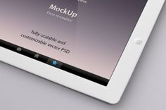 Our perspective psd iPad vector mockup template is a detailed and fully-scalable vector shape iPad psd. We have created a tilted...