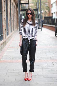 Fashionvibe » Zina Charkoplia Fashion Blog » Stripes and Red Heels