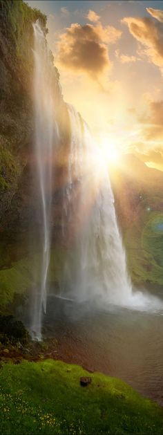 Seljalandsfoss waterfalls, IcelandMore Pins Like This At FOSTERGINGER @ Pinterest