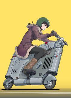 Robot Illustration, Illustrations, Cute Characters, Anime Characters, Anime Motorcycle, Character Art, Character Design, Motorbike Design, Concept Motorcycles