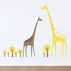 Giraffe nursery wall stickers
