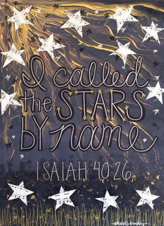 I Called the Stars by Name - Original Painting - Acrylic - Mixed media - hymn…