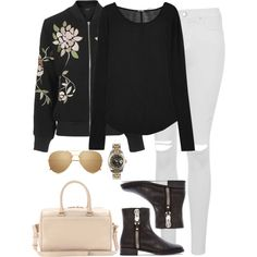 Sin título #1245 by namelessale on Polyvore featuring BLK DNM, Topshop, Stuart Weitzman, Yves Saint Laurent, Rolex and Linda Farrow