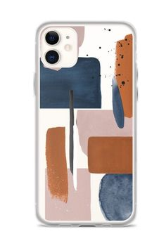 Modern Abstract Clear Phone Case Trendy Collage Cover For iPhone 11 Pro Max XR XS X 7 8 Plus Galaxy Aesthetic Design The Urban Flair - Excited to share this item from my shop: Rust Rose Navy Abstract Clear iPhone 11 Pro Case Wit - Art Phone Cases, Diy Phone Case, Iphone Case Covers, Iphone 11 Pro Case, Aesthetic Phone Case, Accessoires Iphone, Iphone 6 S Plus, Cute Cases, Coque Iphone