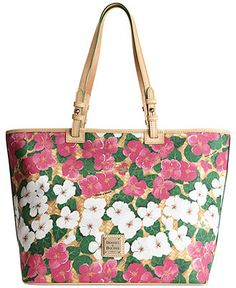 Dooney & Bourke Flowers Leisure Shopper - Dooney & Bourke - Handbags & Accessories - Macy's