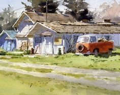 The Egg Farm by Mike Kowalski Watercolor ~ 7 x 10