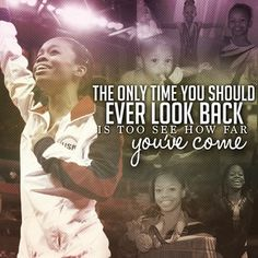 The only time you should ever look back is to see how far you've come-- Gabby <3    @fiercefivephotos