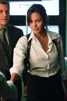 """Angelina Jolie in """"Taking Lives"""" 2004."""