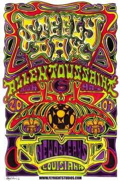 "Original concert poster for Steely Dan live at the New Orleans Jazz Festival in 2007. 12.5""x19"" on card stock paper. Art by Jay Michael"