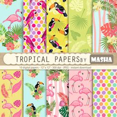 "Excited to share the latest addition to my shop: Flamingo papers: ""TROPICAL DIGITAL PAPERS"" with flamingo patterns, exotic digital paper, toucan pattern, parrot print, tropical patterns #flamingoclipart #hawaiidigital #alohadigital #digitalpapers #flamingo #tropical #digitalpaper #scrapbooking #etsy #supplies http://etsy.me/2BTPHIy"