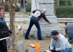 Cleaning monument