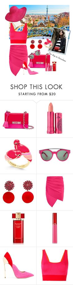"""""""Barcelona Travel Outfit"""" by andrea-pok on Polyvore featuring Moschino, 100% Pure, Kate Spade, Givenchy, Marni, Boohoo, Estée Lauder, Armani Beauty, Casadei and adidas"""