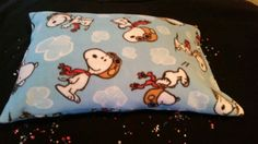 Fleece Snoopy pillowcase