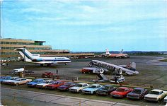 Eastern Airlines, TWA and Lake Central Airlines, all now defunct, are shown. There is a Hertz car rental lot in front of the tarmac. Judging by the rental cars, I'd say this is from the early to mid Smaller size x in. Pittsburgh International Airport, Southwest Airlines, Vintage Airplanes, Civil Aviation, Back In The Day, Travel Posters, World, Aircraft, Airline Pilot