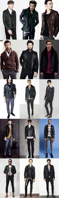 Men's Leather Biker Jacket Outfit Inspiration Lookbook
