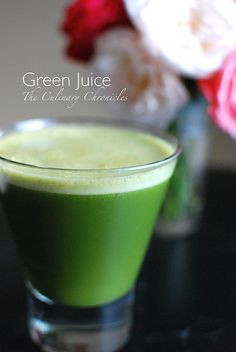 Nam's Fav Green Juice (for now) Serves 2  Ingredients:  1 (Large) Bunch Kale 4 Cups Spinach 1 Cup Parsley 3 Apples (I like a mix of Fuji and Granny Smith) 4 Carrots with their tops on 1 Inch Fresh Ginger Root Juice of 1 Lemon