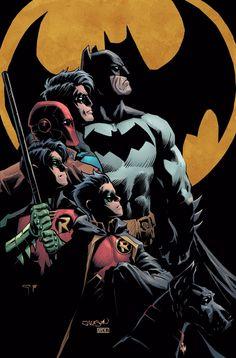 Batman & the Bat-Family: Batman & his Robins/Bruce Wayne & his Sons Nightwing, Batgirl, Batwoman, Joker Batman, Batman Comic Art, Batman Robin, Batman Stuff, Newbury Comics, Robin Dc