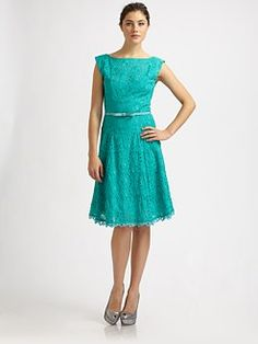 Nanetter Lepore turquoise eyelet...one of my favorite colors