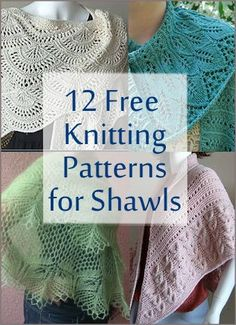 Lenker til gratis strikkeoppskrifter til sjal | Free Knitting Patterns for Shawls and Wraps