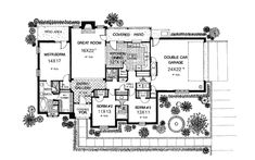 Bungalow Traditional Level One of Plan 97898