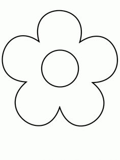 Print Simple-shapes Coloring Pages coloring page & book. Your own Simple-shapes Coloring Pages printable coloring page. With over 4000 coloring pages including Simple-shapes Coloring Pages . Simple Flower Drawing, Easy Flower Drawings, Girl Drawing Easy, Simple Flowers, Diy Flowers, Flower Drawing For Kids, Drawing Flowers, Leaf Flowers, Shape Coloring Pages