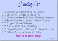 Pulsing Abs Workout