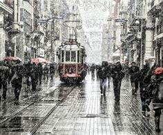 """500px / Photo """"tram, beyoğlu, snowing"""" by skywalker 50"""