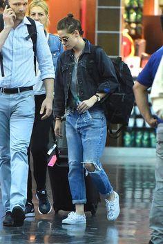 celebstills: Kristen Stewart at JFK Airport, August 2015